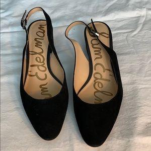 Sam Edelman Black suede heels size 11